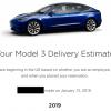 My Tesla model 3 delivery estimate